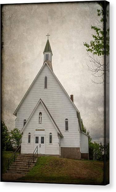 Raquette Lake Chapel Canvas Print