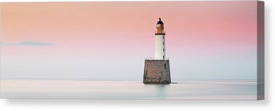 Canvas Print featuring the photograph Rattray Lighthouse Sunset- Scotland by Grant Glendinning