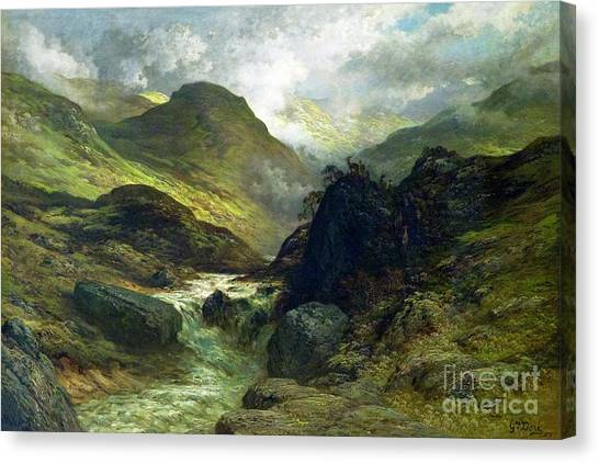State Hermitage Canvas Print - Ravine In The Mountains by Peter Barritt