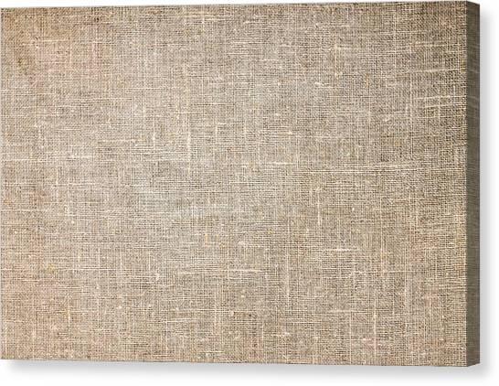 Raw Natural Linen Canvas Print
