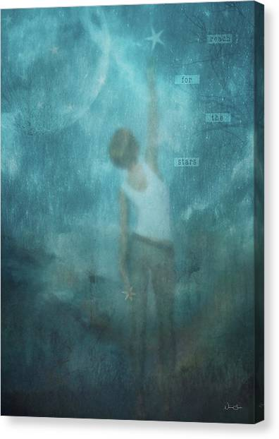 Reach For The Stars Canvas Print by Norma Slack
