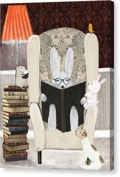 Reading Time Canvas Print by Bri Buckley