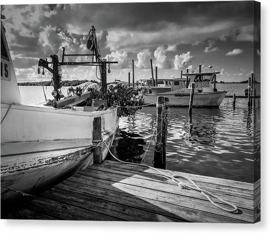 Canvas Print featuring the photograph Ready To Go In Bw by Doug Camara