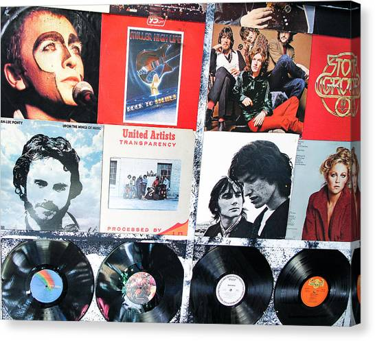 Leon Russell Canvas Print - Record Albums #3 by Cheryl Binnall