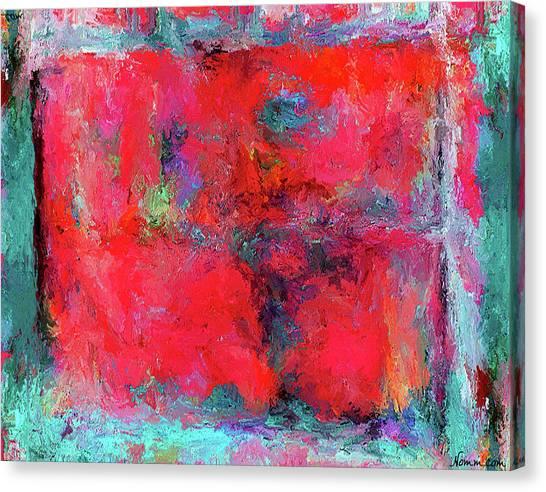 Rectangular Red Canvas Print