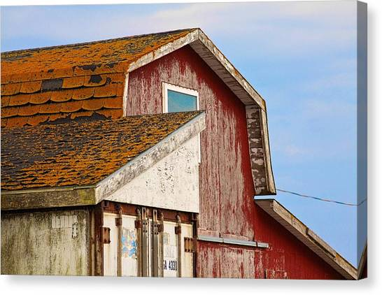 Canvas Print featuring the photograph Red Acadian Fishing Shack At by Tatiana Travelways