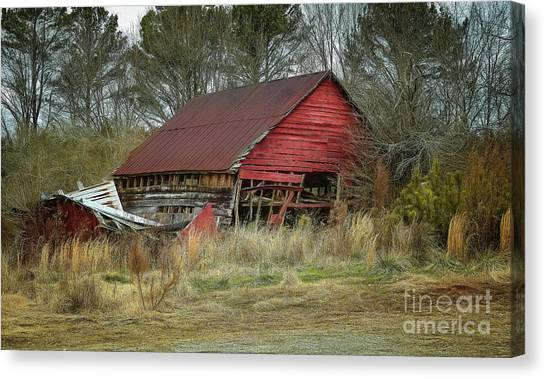 Red Barn Canvas Print by Elijah Knight