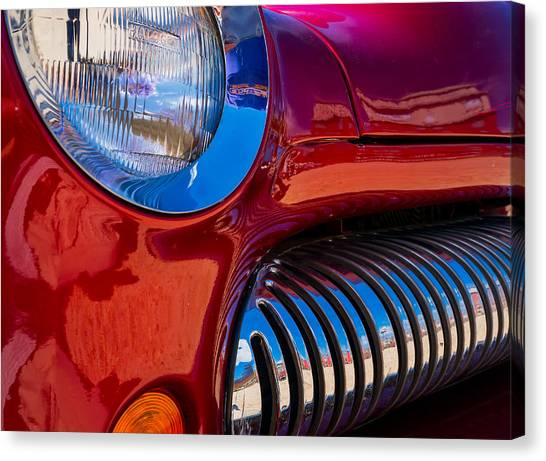 Red Car Chrome Grill Canvas Print