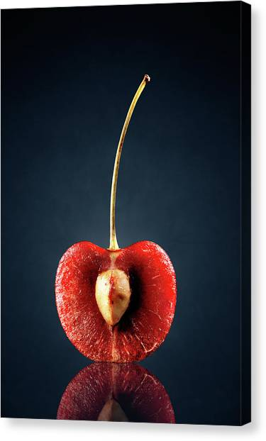 Fruit Canvas Print - Red Cherry Still Life by Johan Swanepoel