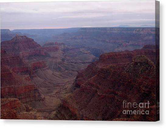 Red Grand Canyon Canvas Print
