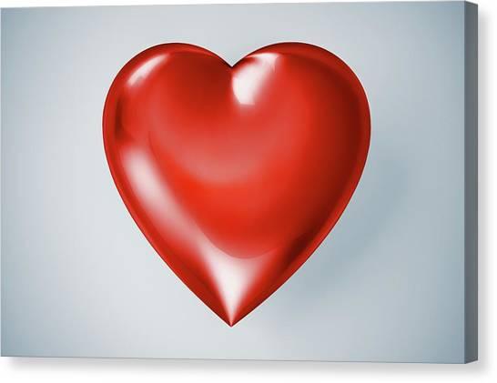 Red Heart, Artwork Canvas Print by Leonello Calvetti