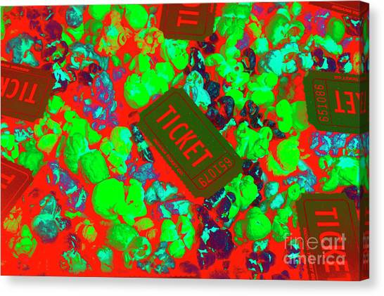 Popcorn Canvas Print - Red Hot Tickets by Jorgo Photography - Wall Art Gallery