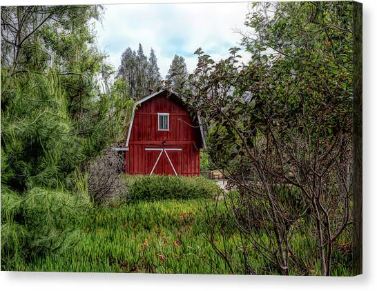 Red House Over Yonder Canvas Print