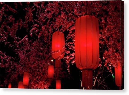 Chinese New Year Canvas Print - Red Lanterns by Orchidpoet