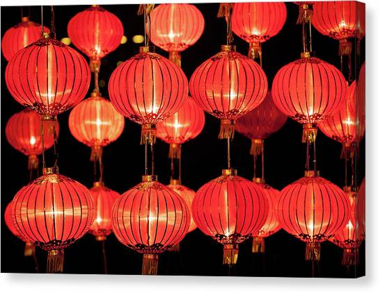Chinese New Year Canvas Print - Red Lanterns by Winhorse