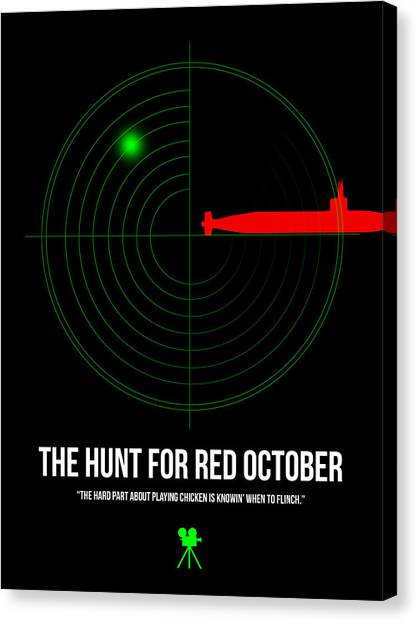 Hunt Canvas Print - Red October by Naxart Studio
