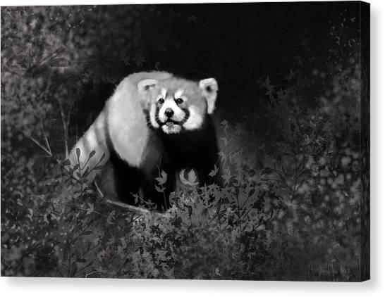 Canvas Print featuring the digital art Red Panda by Angela Murdock
