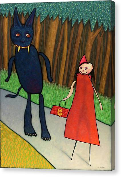 Humorous Canvas Print - Red Ridinghood by James W Johnson
