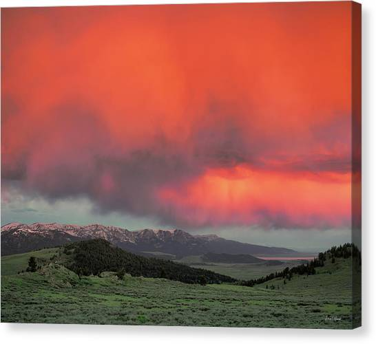 Red Rock Pass Canvas Print by Leland D Howard