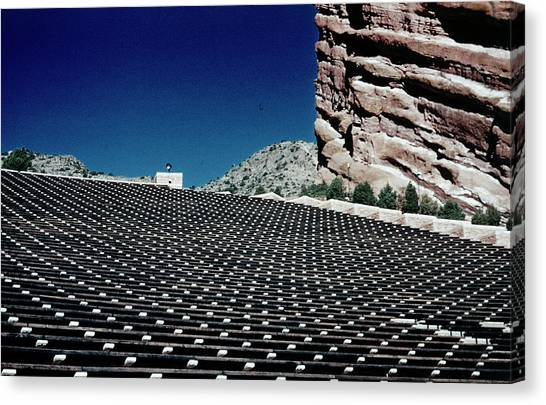 Solar Farms Canvas Print - Red Rocks Amphitheater, Colorado - Kans005 00622  by Kevin Russell