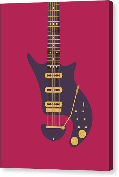 Rock Music Canvas Print - Red Special Guitar - Burgundy by Ivan Krpan