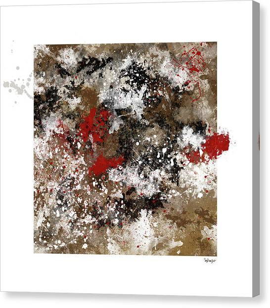 Red Splashes Canvas Print
