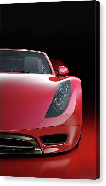Red Sports Car Canvas Print by Mevans