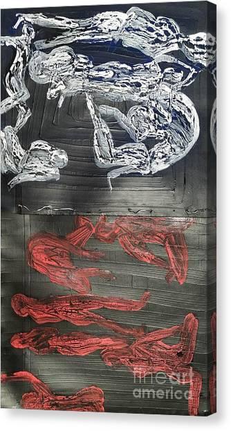 Red Strangles White Cells Canvas Print