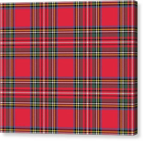 Plaid Canvas Print - Red Tartan by Marianna Mills