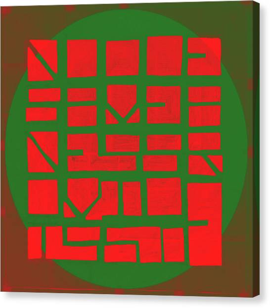 Red To Green - Nucle Canvas Print