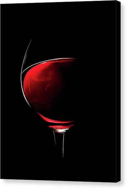 Liquids Canvas Print - Red Wine by Johan Swanepoel