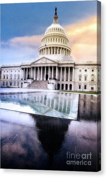 Reflecting Pool Canvas Print