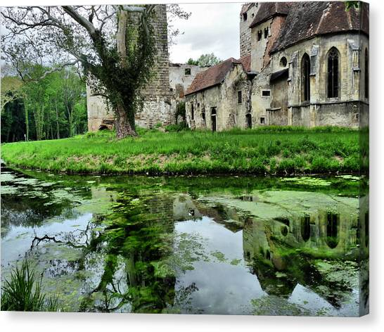 Reflection Of An Ancient Castle Canvas Print