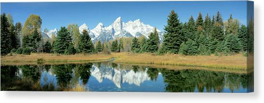 Canvas Print - Reflection Of Mountains In Water, Grand by Panoramic Images