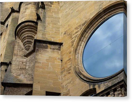Reflection, Sarlat, France Canvas Print