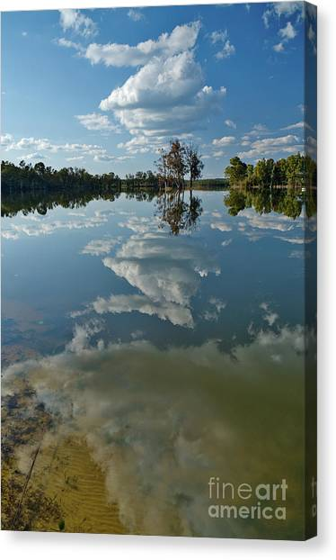 Reflections By The Lake Canvas Print