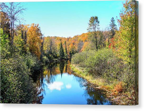 Reflections Of Fall In Wisconsin Canvas Print