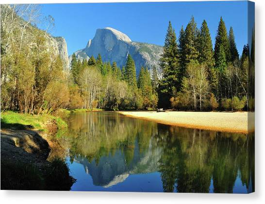 Reflections Of Half Dome Canvas Print
