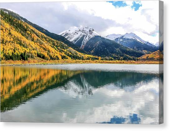 Reflections On Crystal Lake 1 Canvas Print