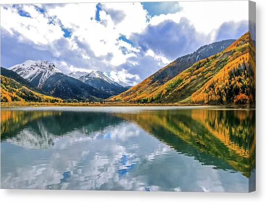 Reflections On Crystal Lake 2 Canvas Print
