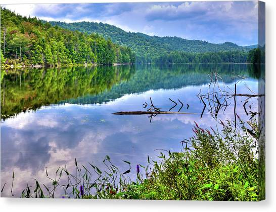 Canvas Print featuring the photograph Reflections On Sis Lake by David Patterson