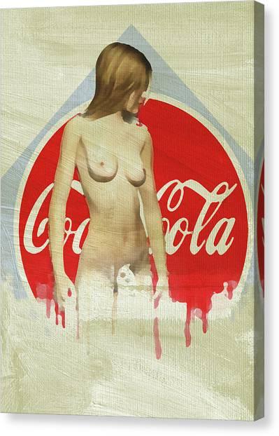 Canvas Print featuring the digital art Refreshing by Jan Keteleer