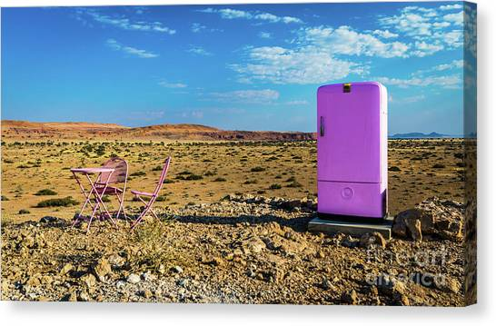 Refreshments Pit Stop In The Middle Of Nowhere Canvas Print