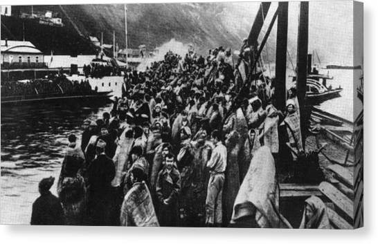 Refugees Canvas Print by Hulton Archive