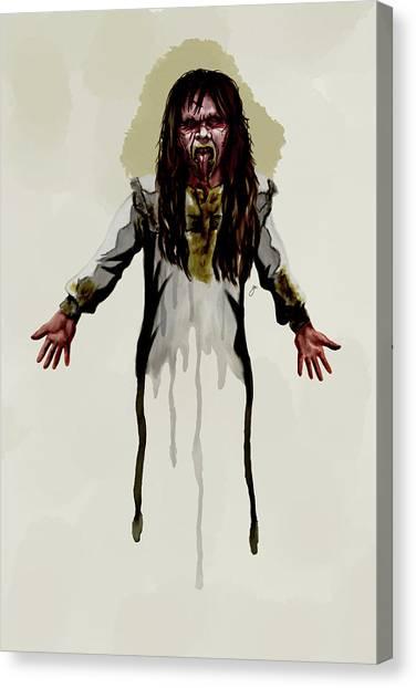 The Exorcist Canvas Print - Regan Macneil by Gary Cadima