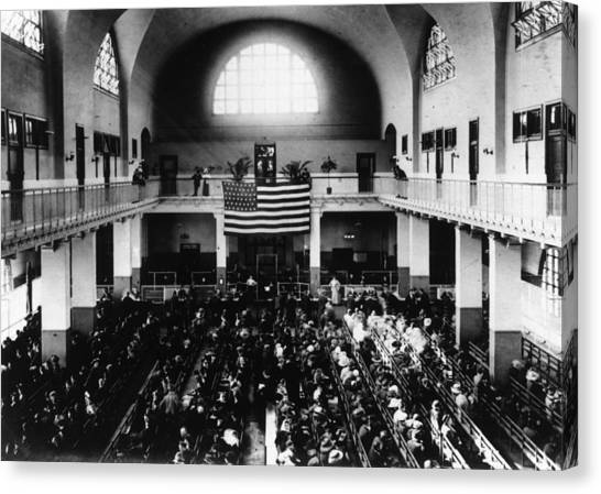 Registry Hall Canvas Print by Hulton Archive