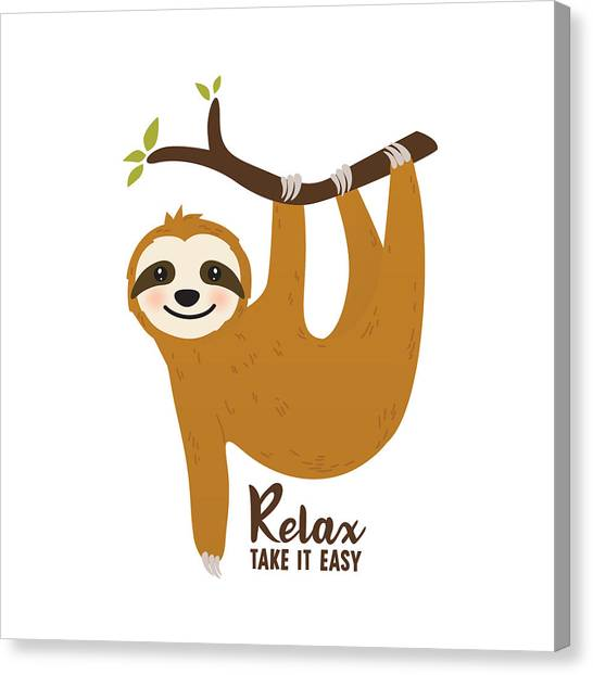 Relax Take It Easy - Baby Room Nursery Art Poster Print Canvas Print