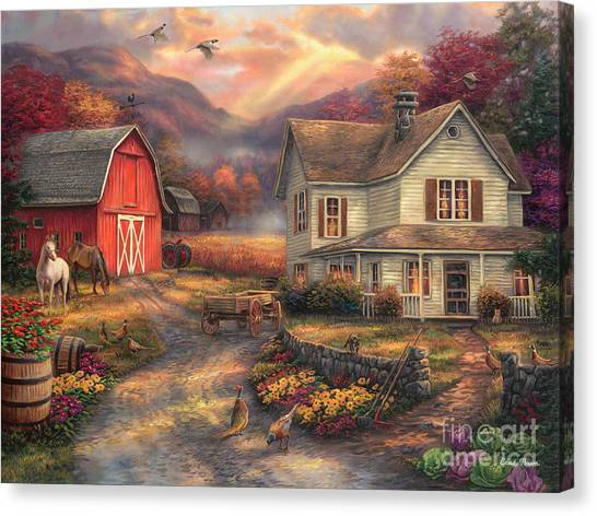 White Horse Canvas Print - Relaxing On The Farm by Chuck Pinson