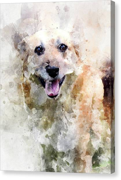 Remember The Four-legged Smile Canvas Print