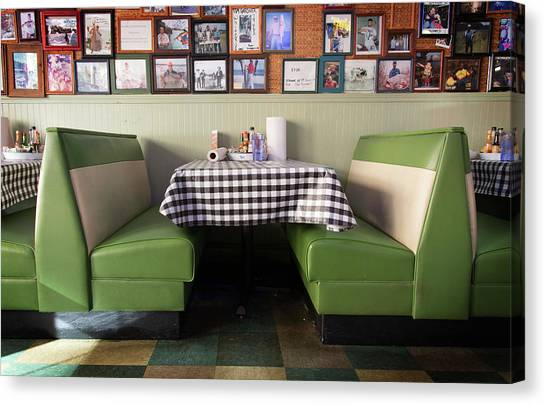 Restaurant Booth Canvas Print